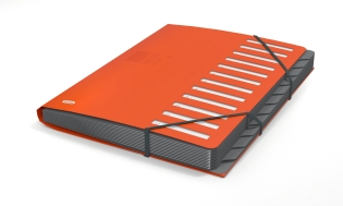 EXPANDABLE SORTER ELBA FOR BUSINESS IN PP A4 12P ORANGE